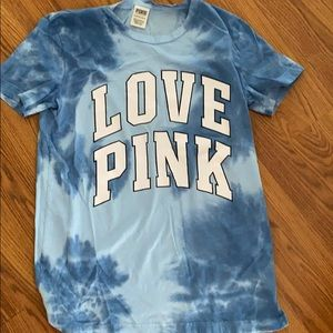 Victoria secret pink tie dye tee shirt